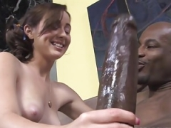 Small 18-19 year old Cheerleader Mae Meyers Makes love Black Knob